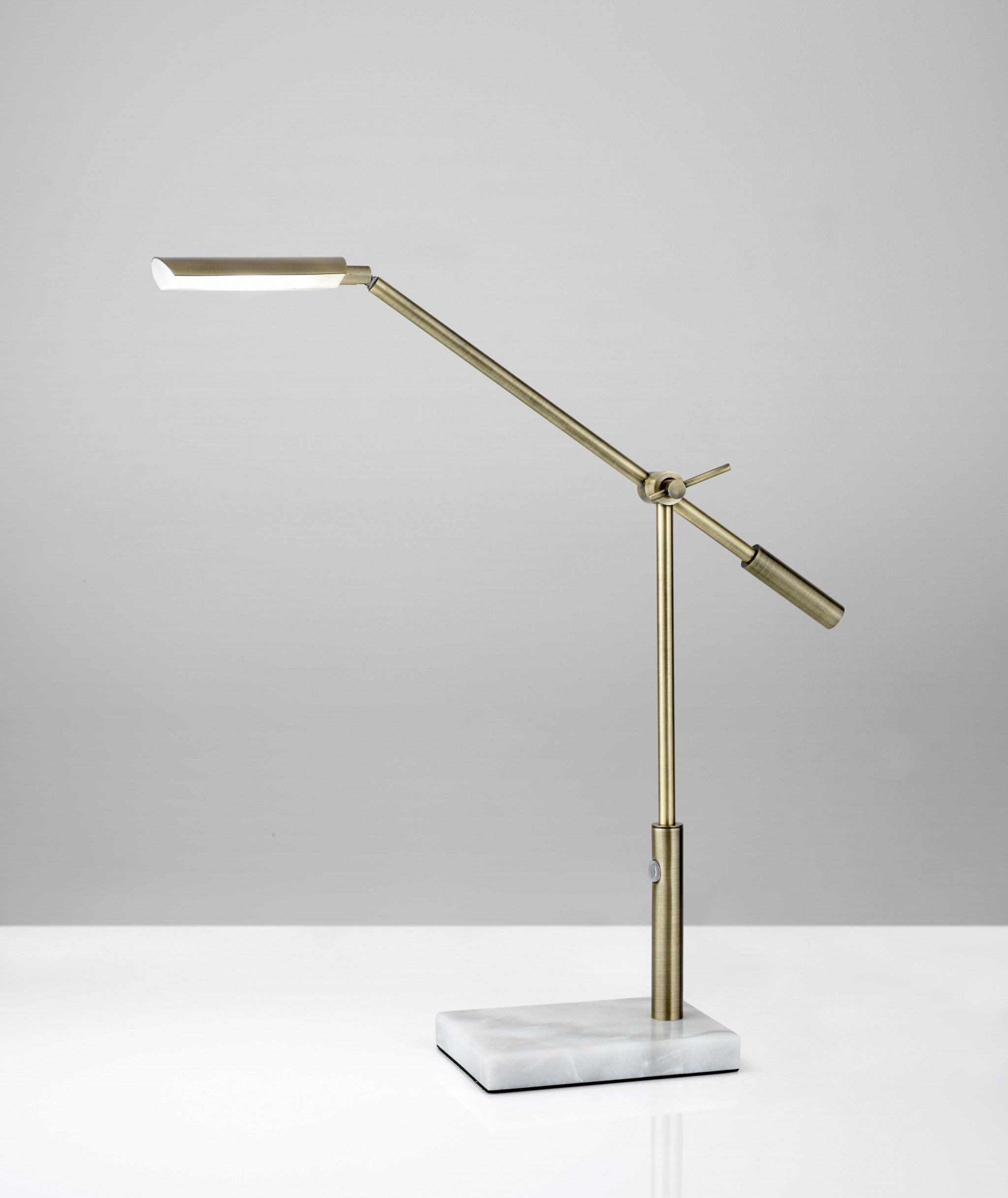 "5"" X 22""  X 16"" - 26"" Brass Metal LED Desk Lamp"