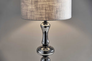 "15"" X 15"" X 28.75"" Black Glass Table Lamp"