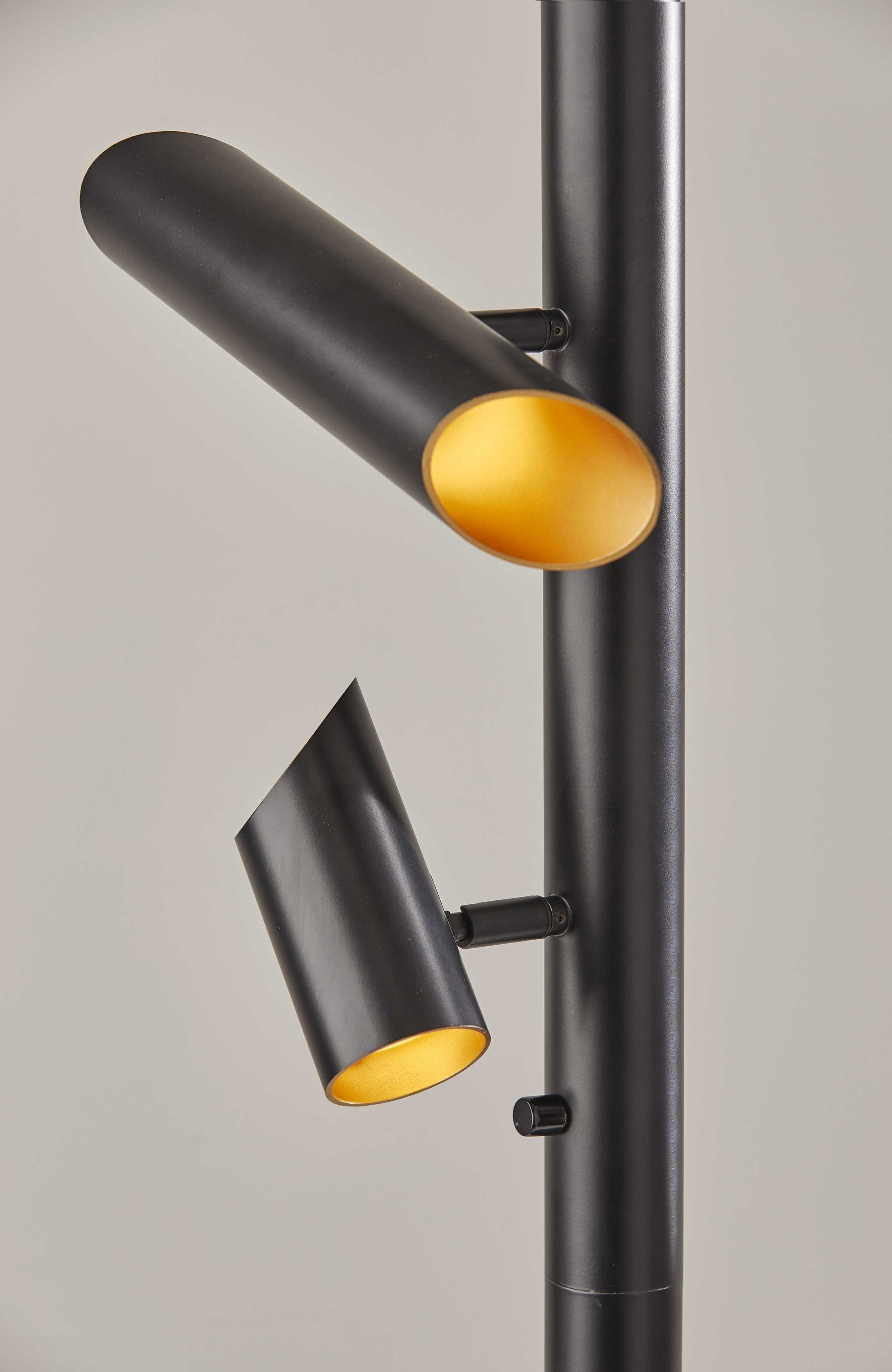 This Way That Way Black Metal LED Floor Lamp