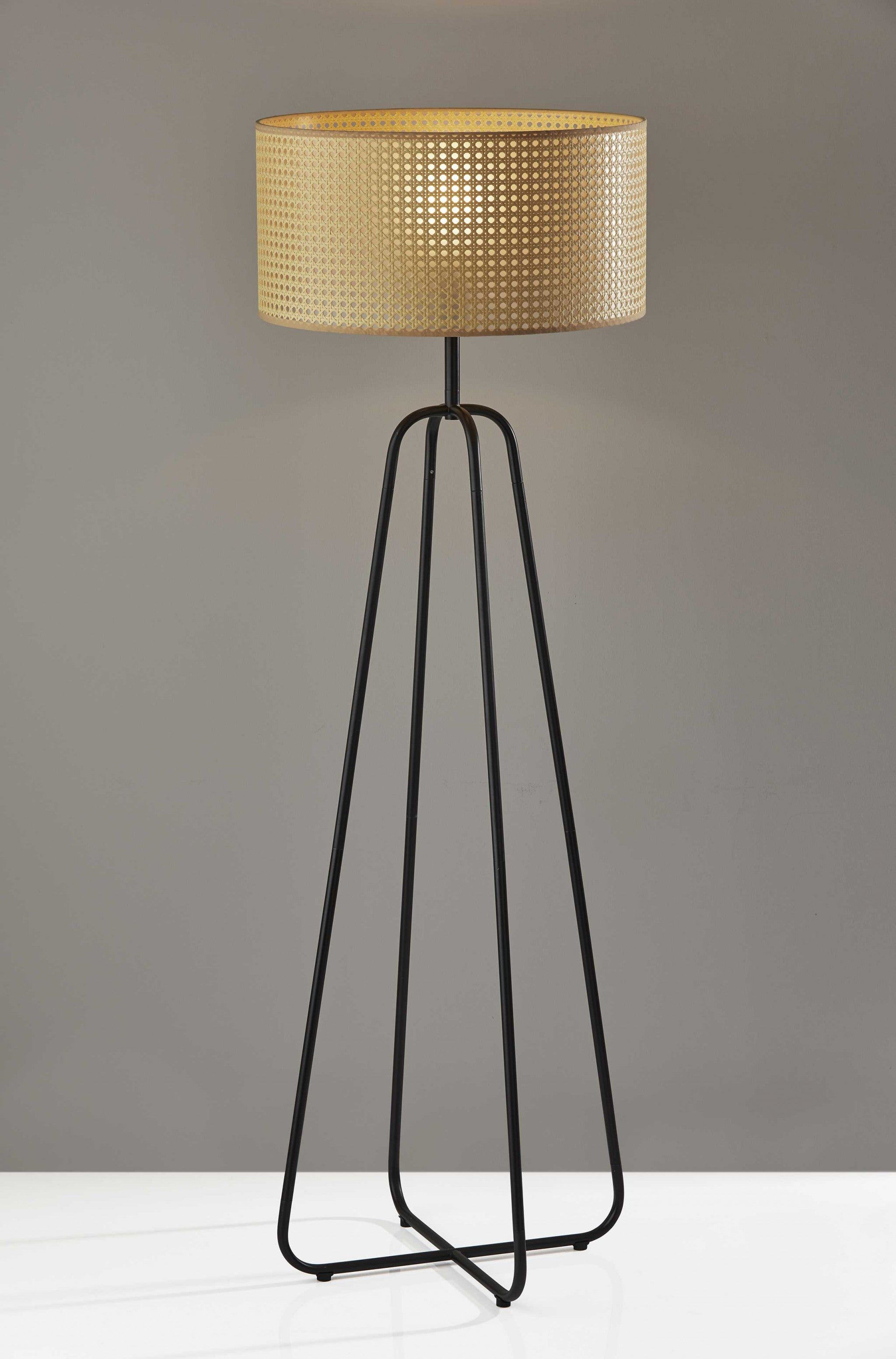 "19"" X 19"" X 58"" Bronze Shade Floor Lamp"