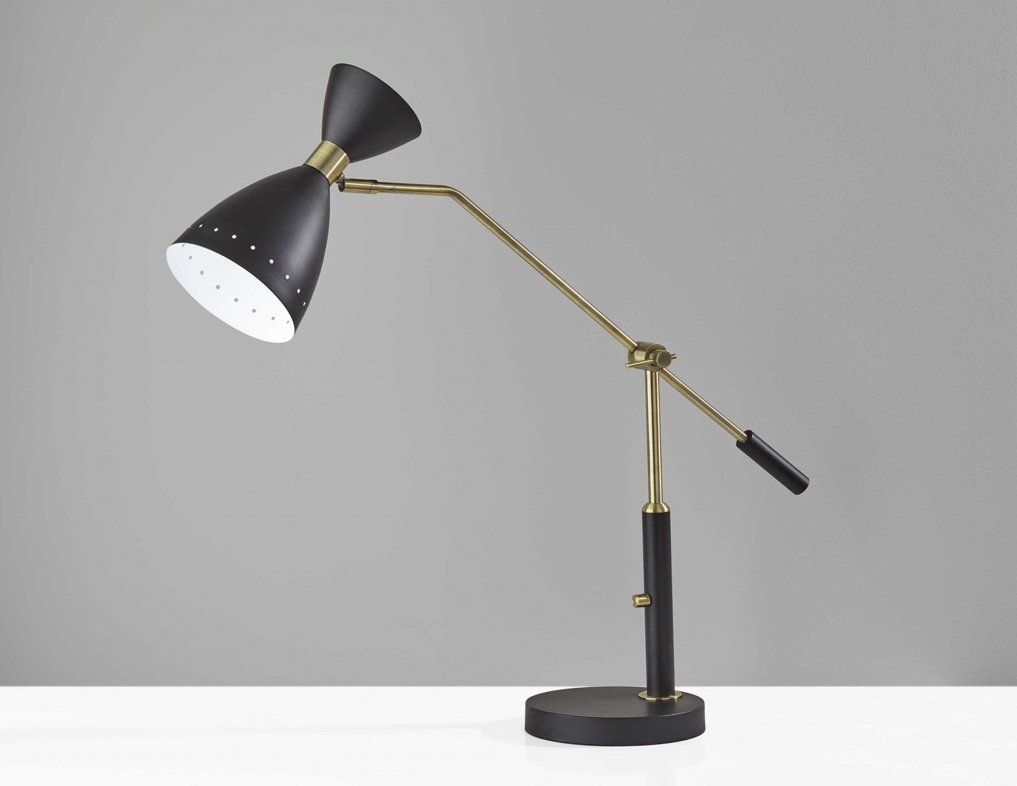 "8"" X 36.5""  X 31.75""  Black Metal Adjustable Desk Lamp"