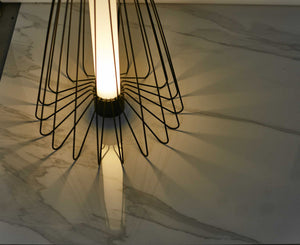 "48"" x 67"" x 48"" Smoke Steel  Floor Lamp"