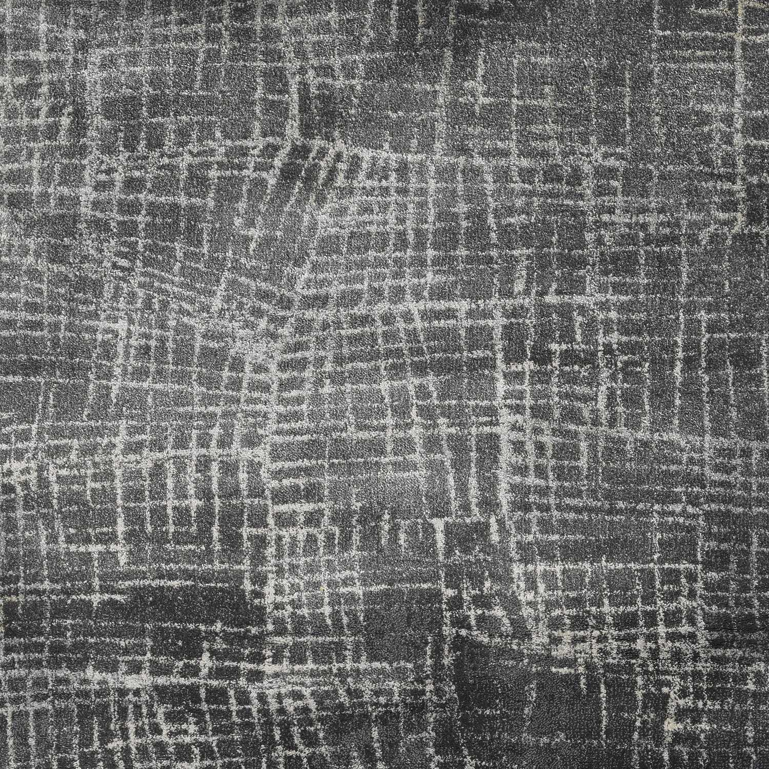 3'x5' Grey Machine Woven Abstract Scratch Indoor Area Rug