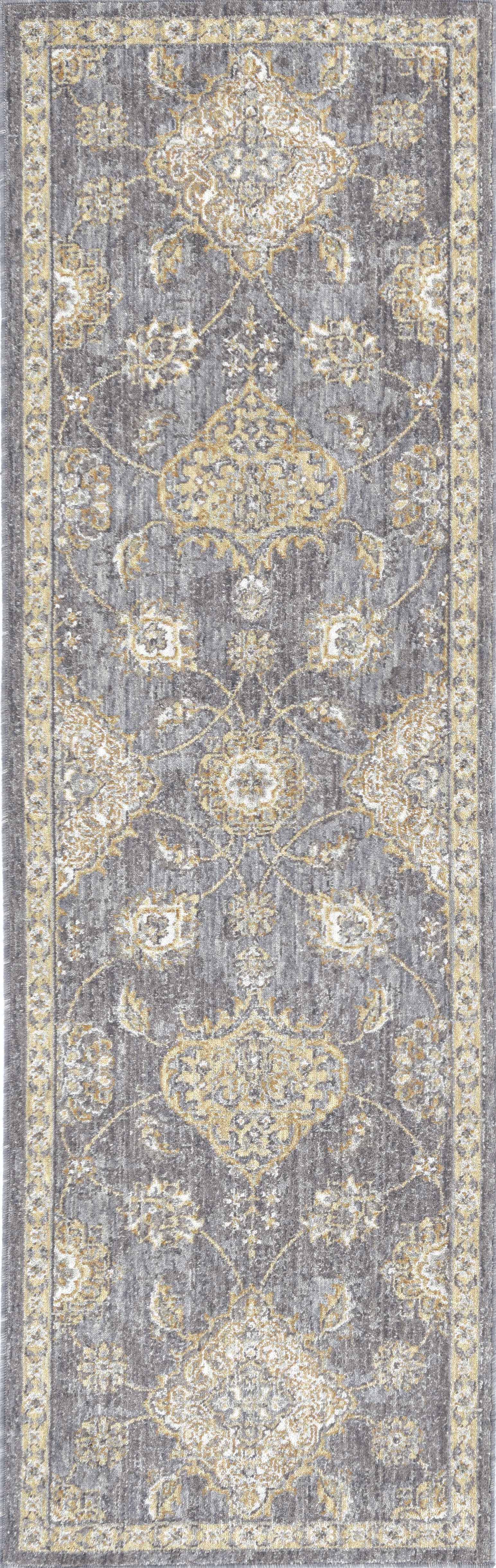 5'x8' Sage Green Machine Woven Traditional Indoor Area Rug