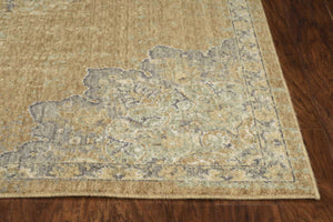 2' x 3' Coffee Vintage Wool Accent Rug