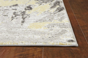 2' x 7' Grey Polypropylene Area Rug