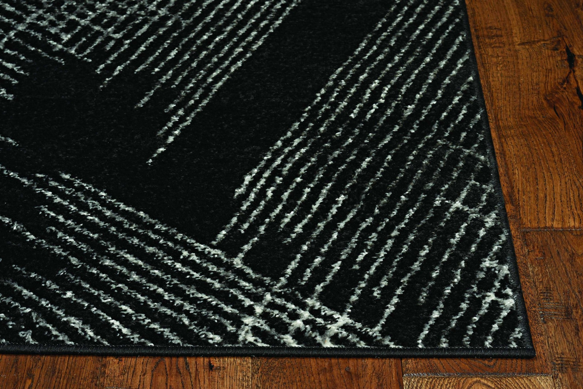 9'x13' Teal Blue Machine Woven Abstract Lines Indoor Area Rug