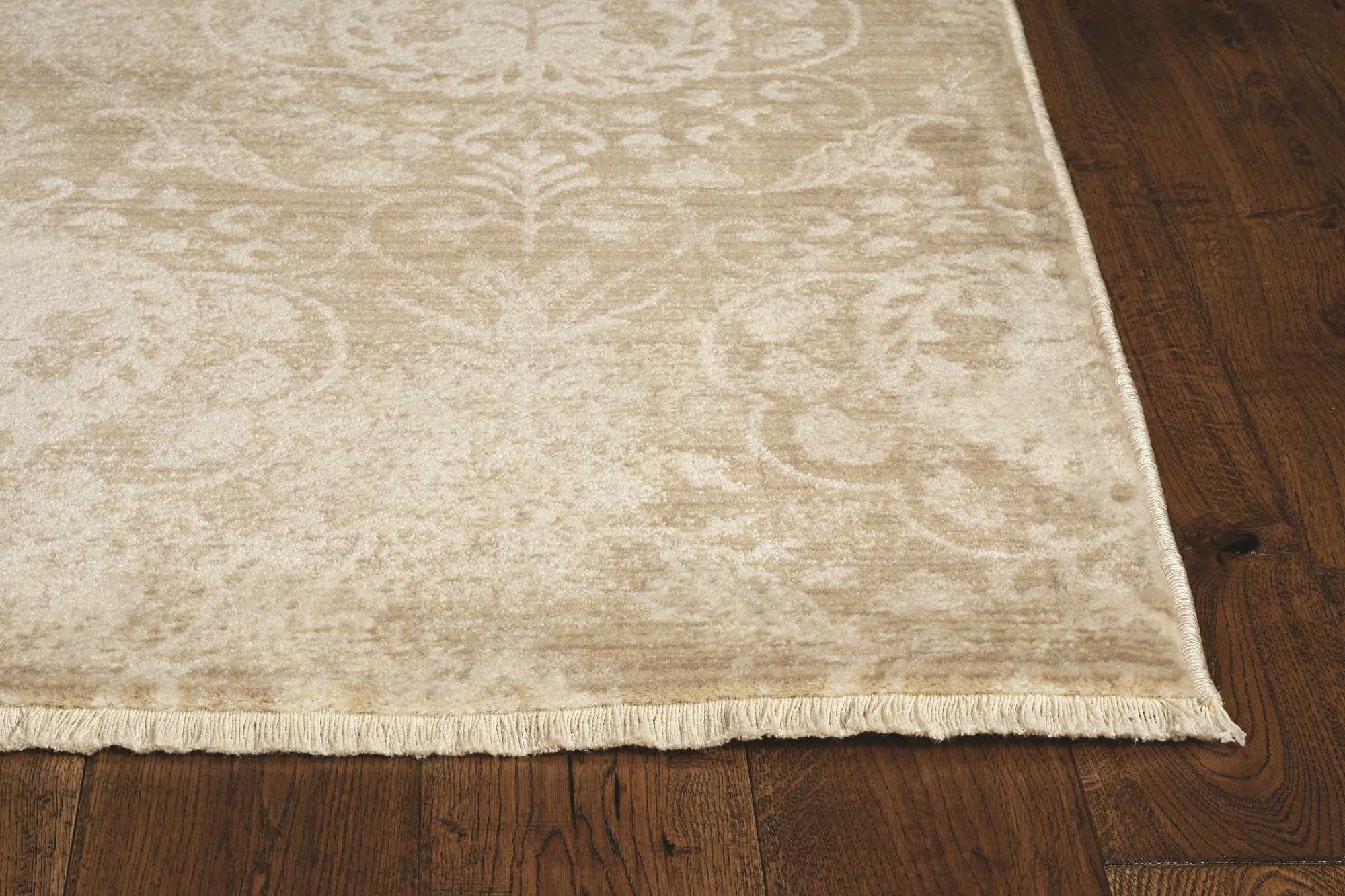 2' x 8' Sand Faded Spades Runner Rug