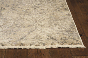 8' Sand or Charcoal Polypropylene Runner Rug