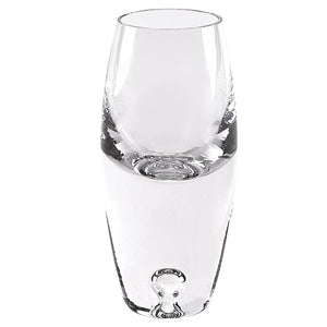 Mouth Blown Glass Pair of Tall Shot Glasses  2.5 oz.