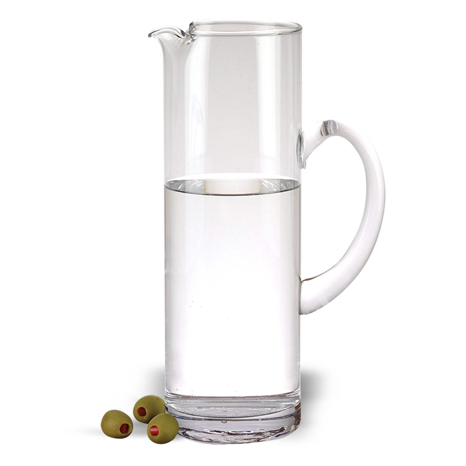Mouth Blown Ice Tea Martini or Water Glass Pitcher 54 oz