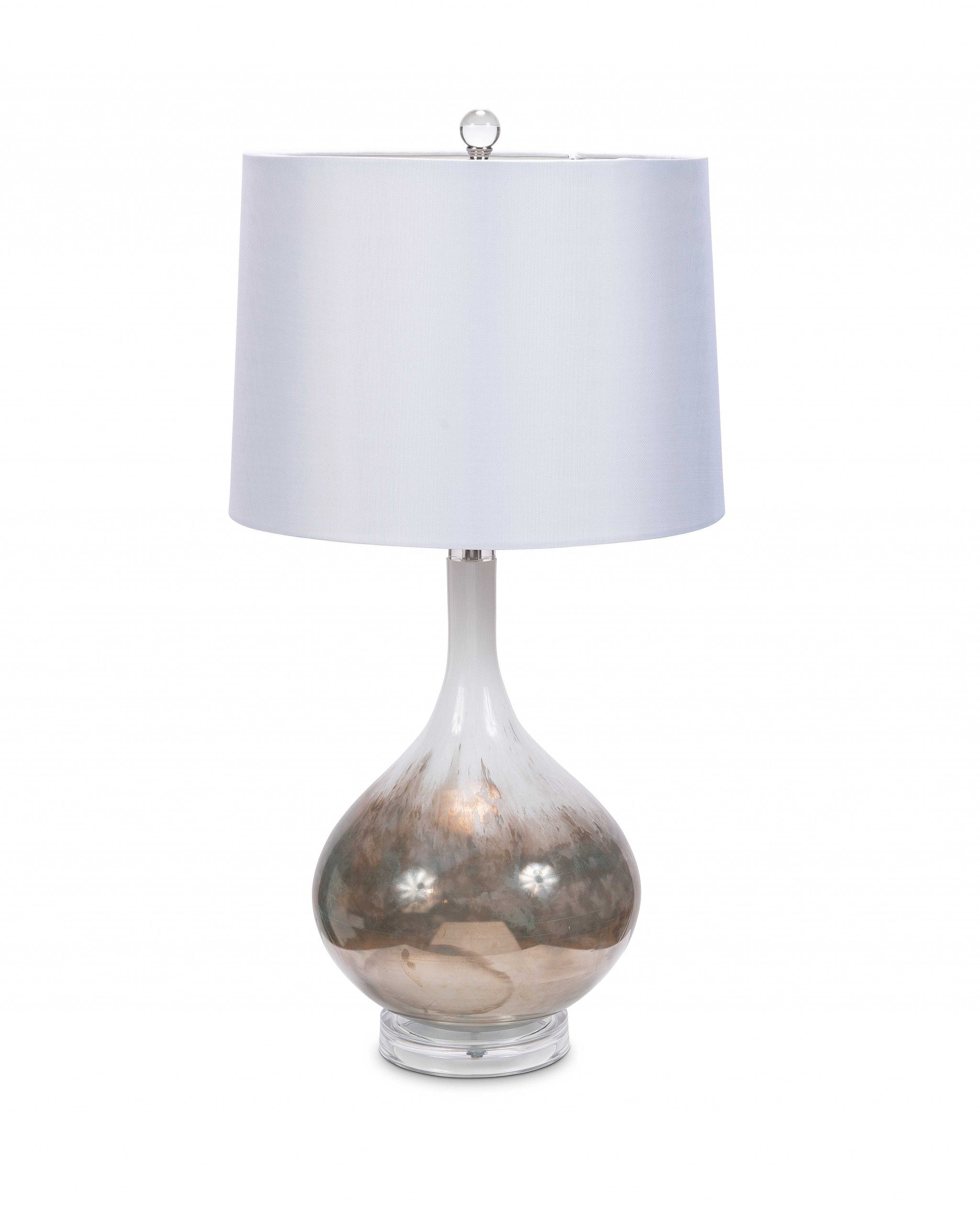 S/2 Art Glass Table Lamp