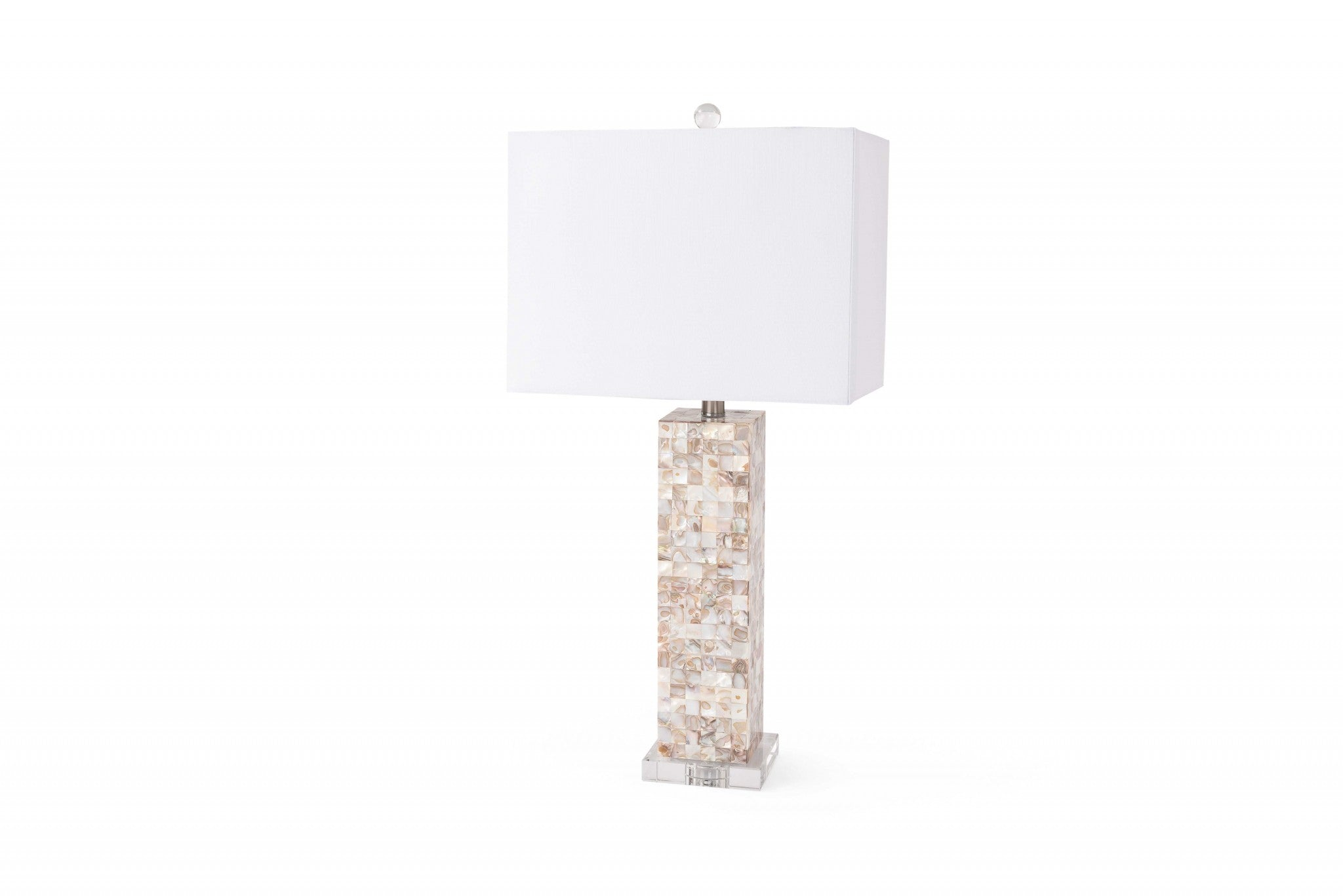 Set of 2 Mother of Pearl Coastal Table Lamps