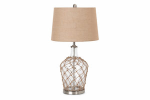 S/2 Bubble Glass Coastal Table Lamp