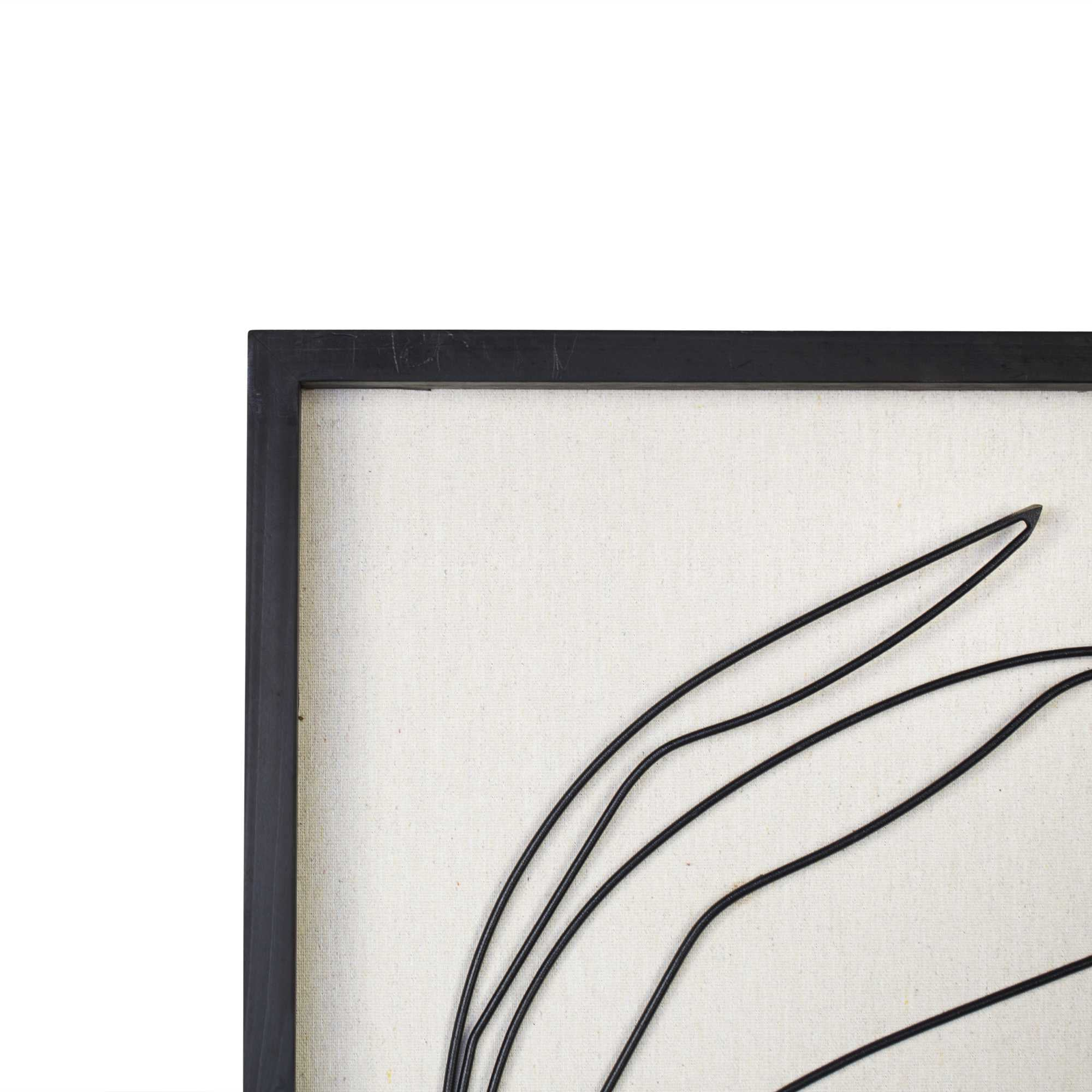 Leafy Stem Wall Art with Matthe Black Finish