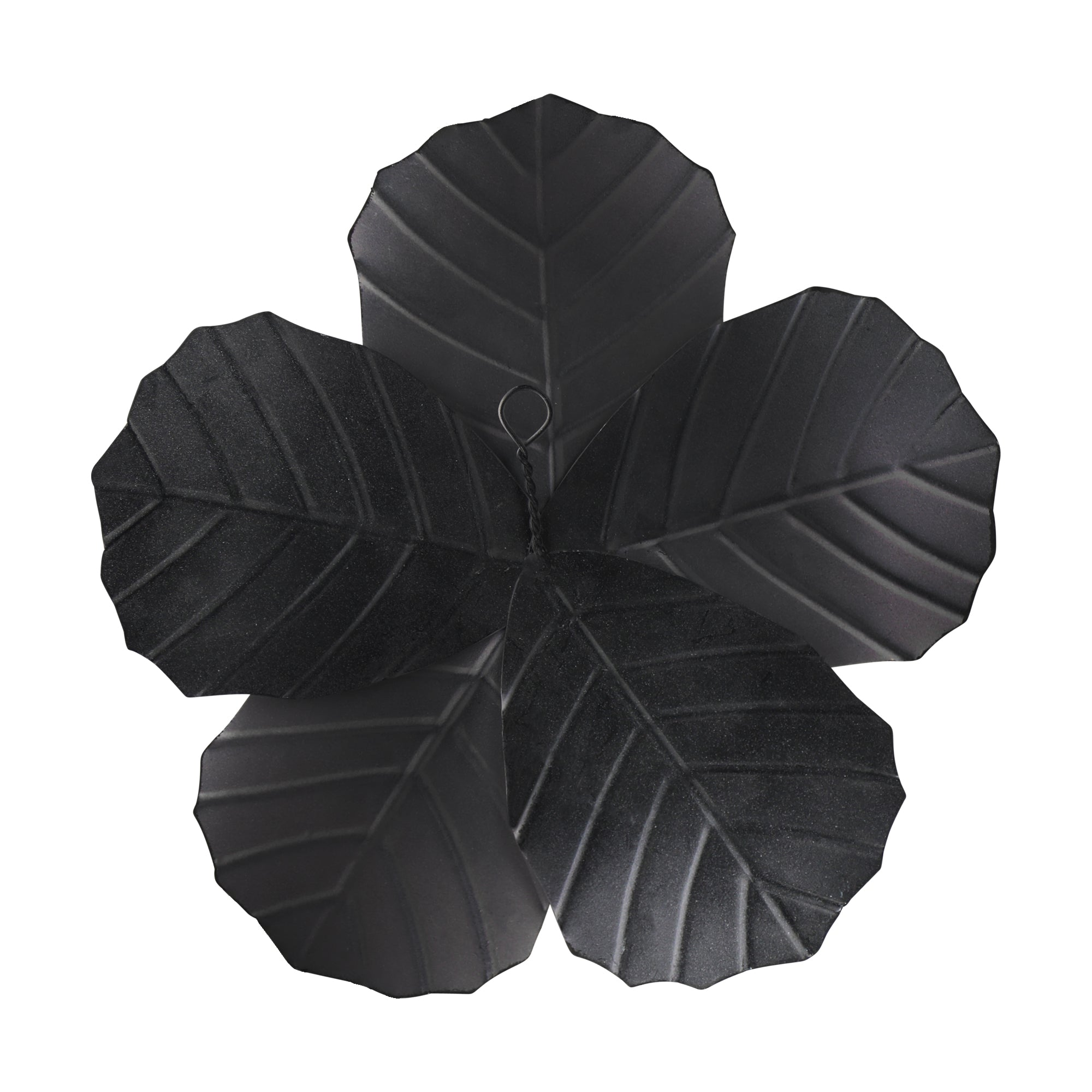 Flower Metal Wall Decor with Matte Finish