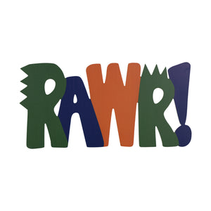 "20"" X 10"" ""RAWR"" Wall Decor"