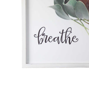 Printed Floral with Script Wall Decor