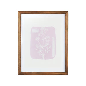 "11"" X 14"" Flower Framed Wall Art with Glass"