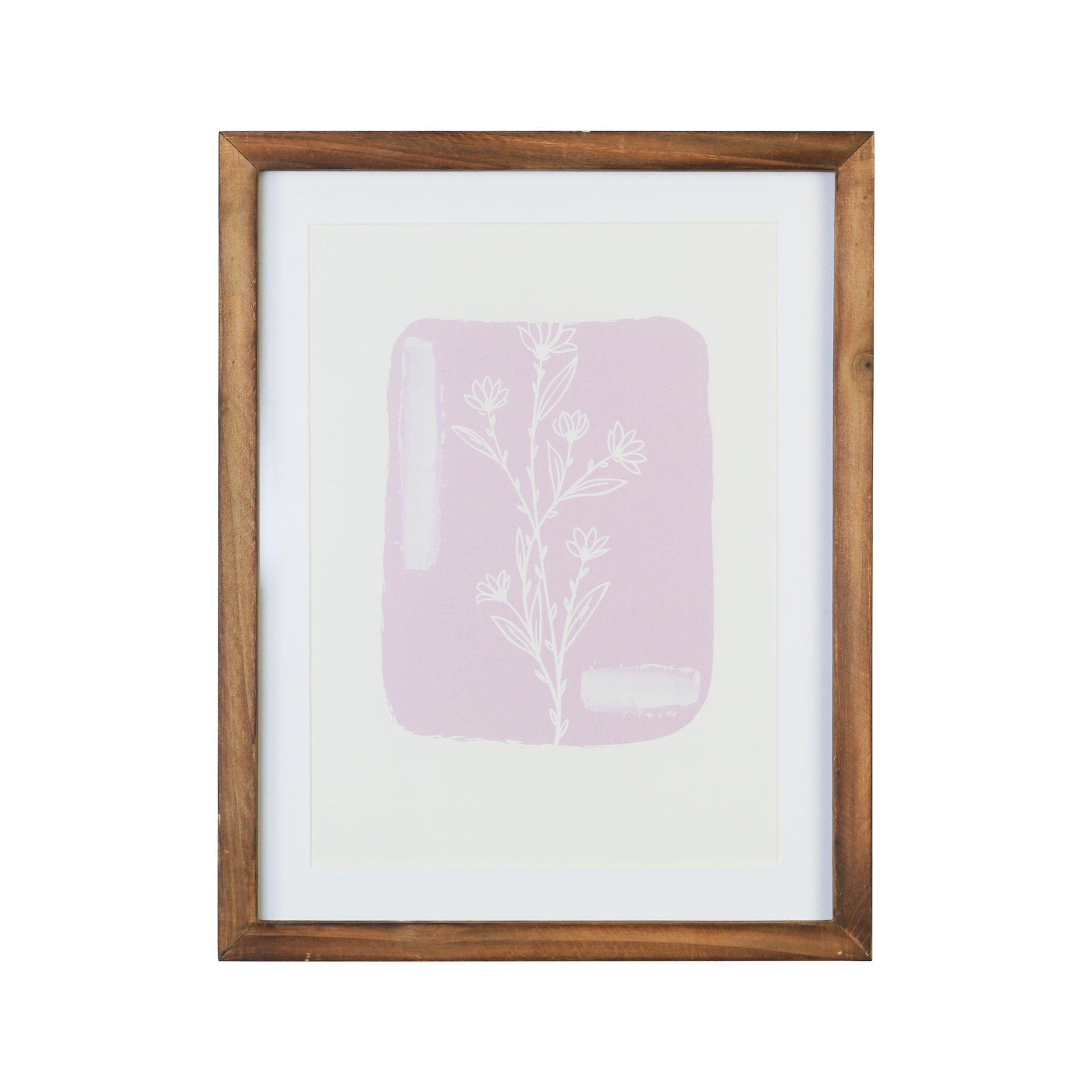 "11"" X 14"" Botanical Framed Wall Art with Glass"