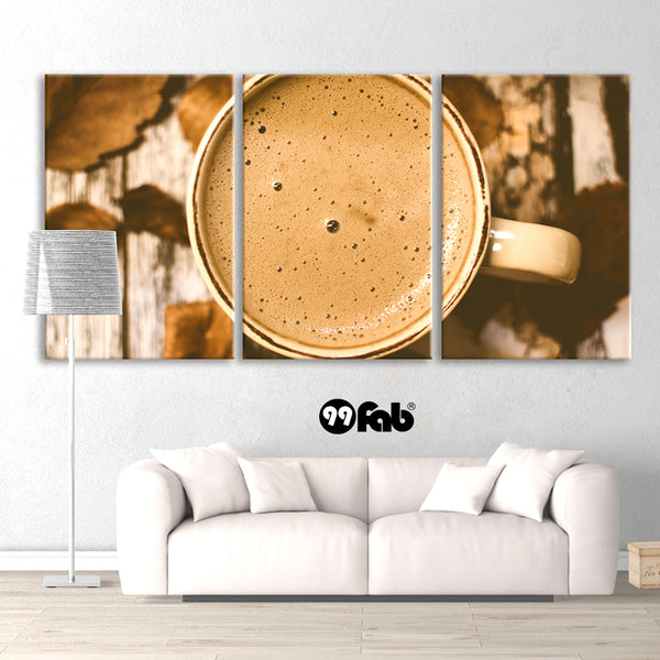 3 Panel Brown in Coffee Wall art canvas
