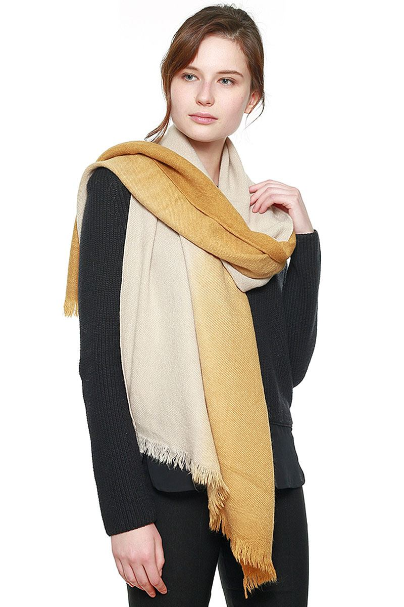 Two Tone Gradation Scarf