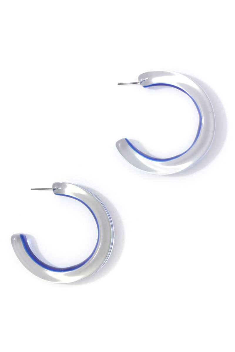 Chic Transparent Hoop Earring