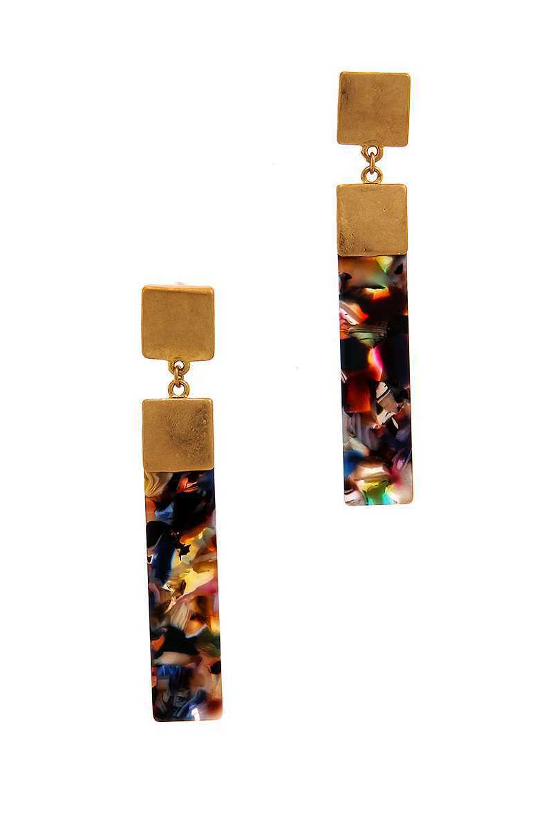 Chic Rectangle Drop Earring