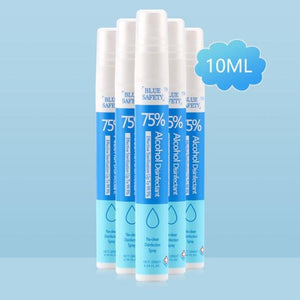 BLUE SAFETY™ 10ml Pocket Hand Sanitizer Antibacterial Disinfection Spray - hand sanitizer - 99fab.com