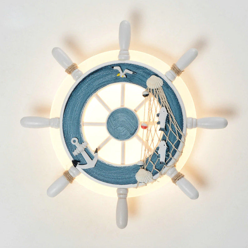 Artpad Nordic Mediterranean Rudder Wall Lamp for Children Bedroom - wall lamp - 99fab.com
