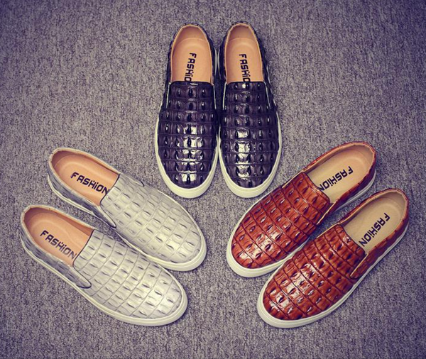 Casual Crocodile Design Men Flat Shoes - men shoes - 99fab.com