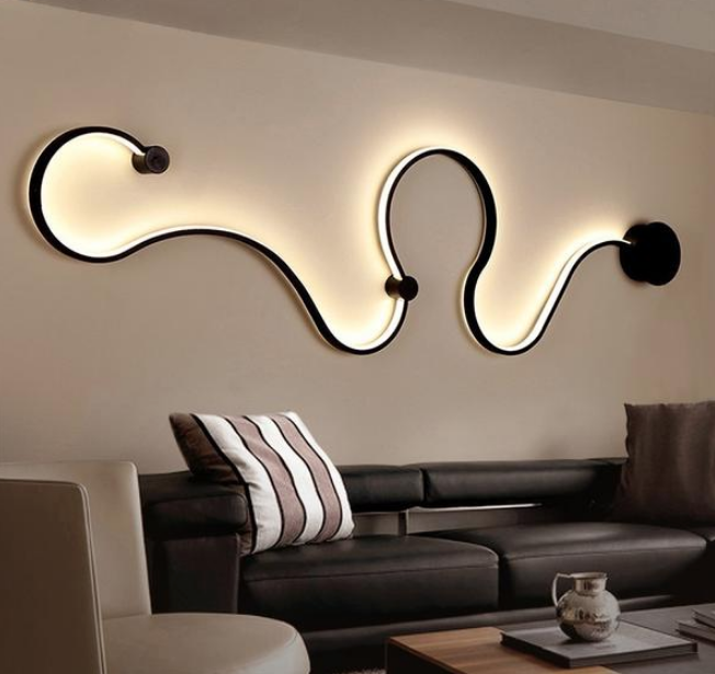 Simple creative Nordic design wall lamp decoration