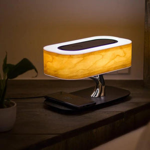 Light Of Tree Table Lamp Bluetooth WiFi Speaker Wireless Phone Charging - table lamp - 99fab.com
