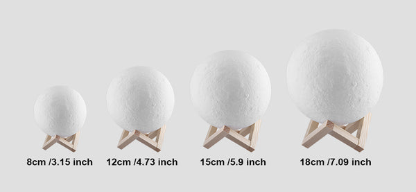 Night Light 3D Printing Moon Lamp