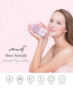 MOZART High quality mini bluetooth wireless speaker with radio - Pink