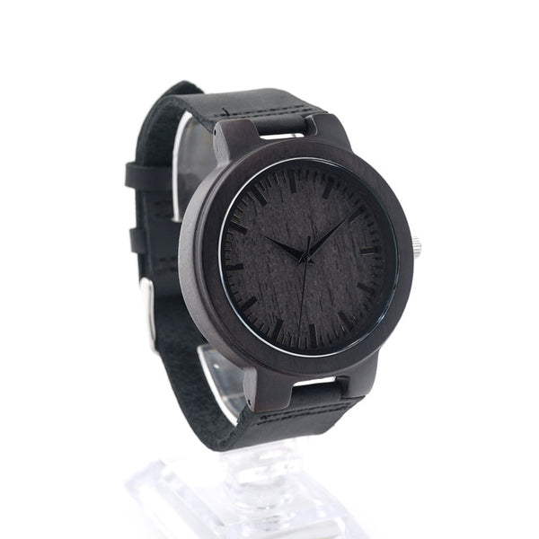 Bobo bird Men's Luxury Wooden Watches With Real Leather in Gift Box - men watches - 99fab.com