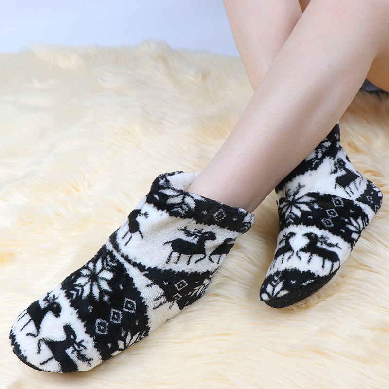 Christmas Winter Women Warm Fur Slippers Claquette Fourrure