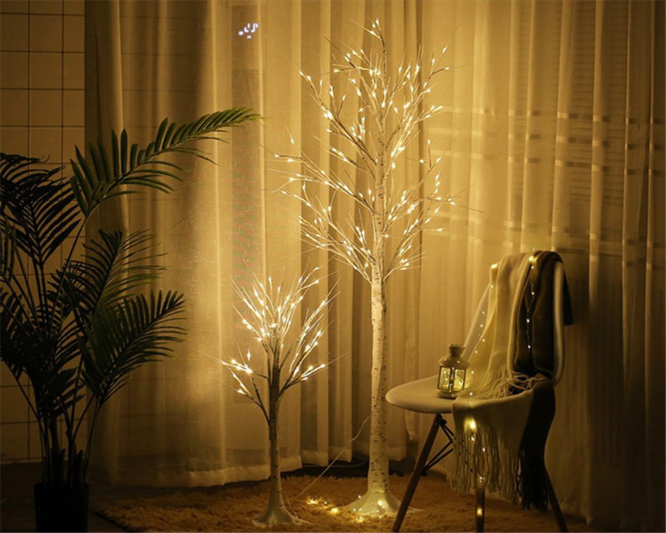 Christmas Decorations LED Tree Birch Lamp