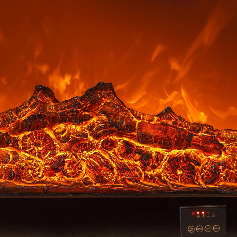 LED burner optical artificial emulation charcoal flame decoration - Fireplace Burners - 99fab.com