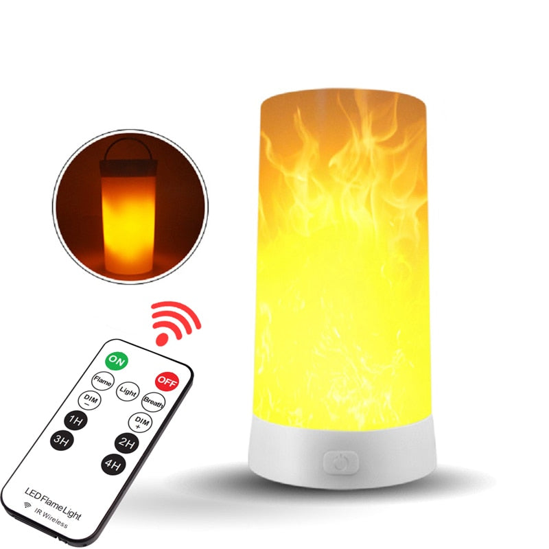 99FAB™ LED Flame Effect Flickering USB Rechargeable Bulb with Gravity Sensor & Remote - 99FAB LED Flame Effect Bulb - 99fab.com