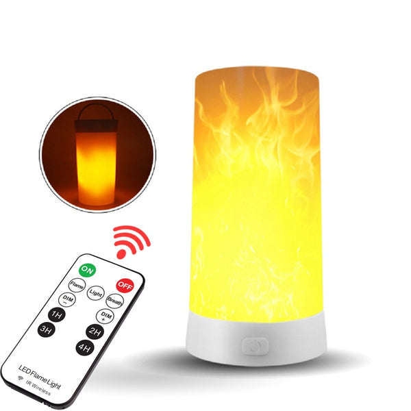 99FAB™ LED Flame Effect Flickering USB Rechargeable Bulb with Gravity Sensor & Remote