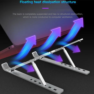 X Style Aluminum Adjustable Foldable Laptop Stand