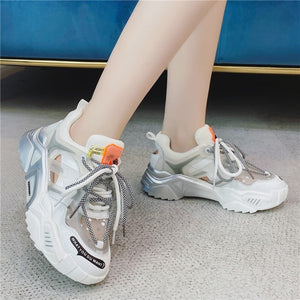 RASFAB 129 Rainbow Bottom Platform Sneakers Chunky Women Shoes