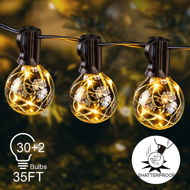 Solar Powered LED Outdoor Garden Yard Waterproof String Lights B99