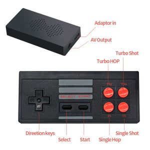 Wireless USB TV Video Game Console Mini Retro Handheld Built-in 620 Classic Games