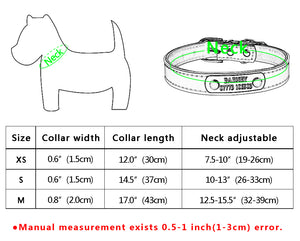 Leather Personalized Dog Collars Custom Pet Name ID Collar Free Engraving - pet - 99fab.com