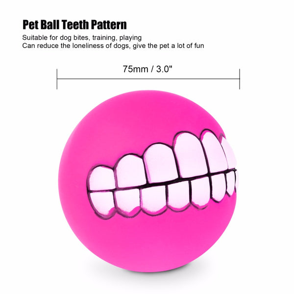 Dog Funny Ball Teeth Silicon Toy