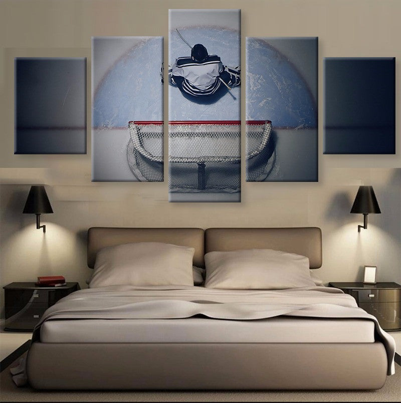 5 Panel Ice Hockey Canvas Art HD Printed Wall Painting - art - 99fab.com