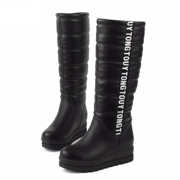 Woman Knee high Thermal Velvet Boots