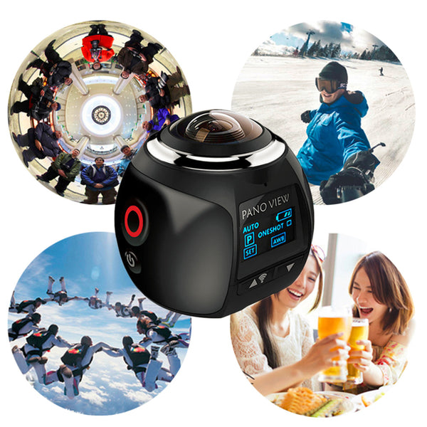 360 Panoramic Action Camera Ultra HD Wifi Mini Waterproof